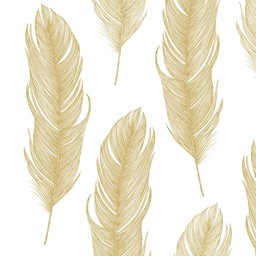 Bild von Elegant Feather gold Servietten