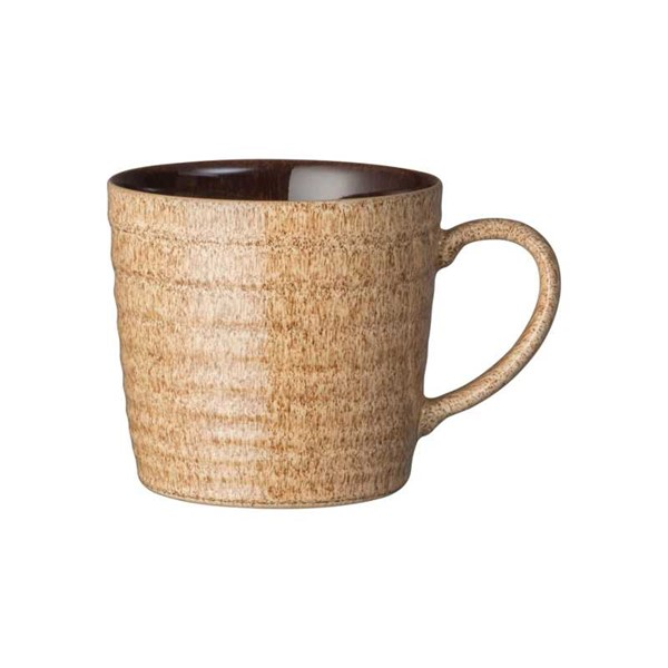 Bild von Denby Studio Craft hell Walnuss-Ulme Ridged Mug Henkelbecher Tasse
