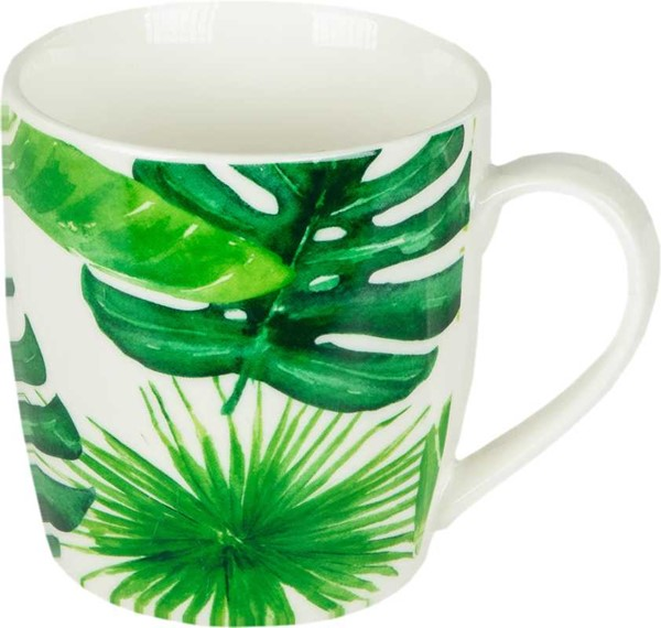 Bild von Monstera Green Leaves Henkelbecher Tasse