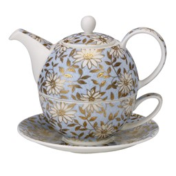 Bild von Tea For One Set Aqua Fine Bone China