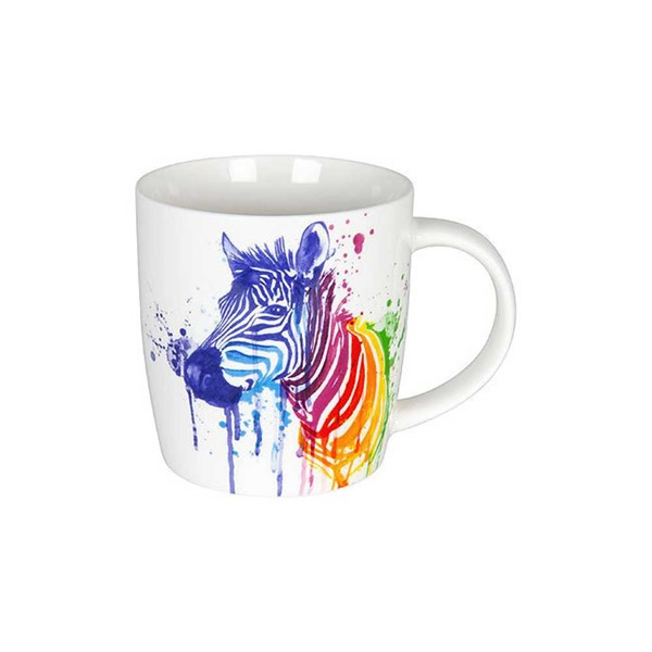 Bild von Zebra Watercoloured Animals Teetasse Kaffeebecher Könitz