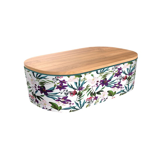 Bild von chicmic Lunchbox Deluxe Jungle Blooms Brotzeitdose Bambus Brotbox