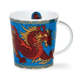 Bild von Dragons blue blau Dunoon Tasse Lomond Fine Bone China