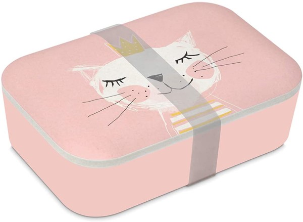 Bild von Brotzeitdose Happy Cat Bambus Brotbox Lunchbox